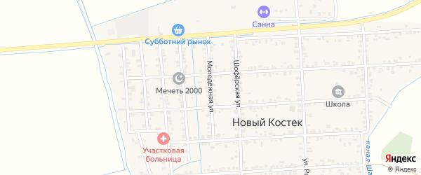 Молодежная улица на карте села Нового Костека с номерами домов