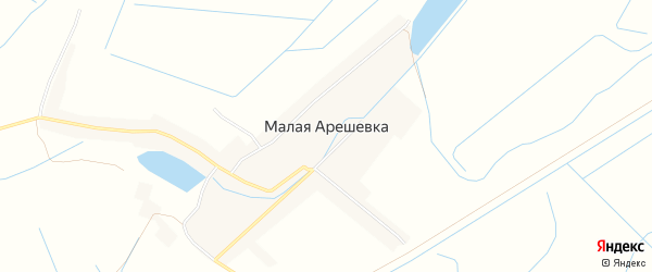 Карта села Малой Арешевки в Дагестане с улицами и номерами домов