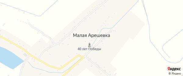 Юбилейная улица на карте села Малой Арешевки Дагестана с номерами домов