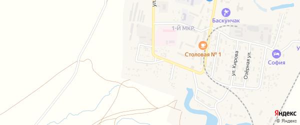 Переулок Макарова на карте поселка Нижнего Баскунчака Астраханской области с номерами домов