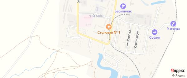 Улица Макарова на карте поселка Нижнего Баскунчака Астраханской области с номерами домов