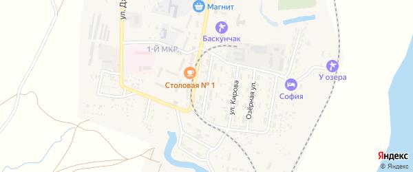 Октябрьская улица на карте поселка Нижнего Баскунчака Астраханской области с номерами домов