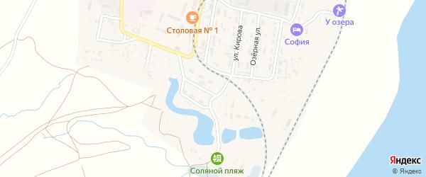 Железнодорожная улица на карте поселка Нижнего Баскунчака Астраханской области с номерами домов