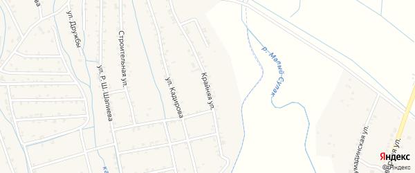 Крайняя улица на карте села Темираула с номерами домов