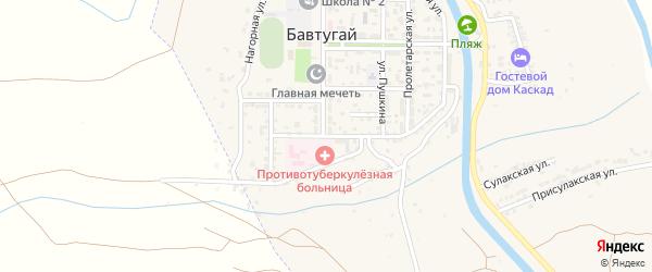 Больничная улица на карте поселка Бавтугая с номерами домов