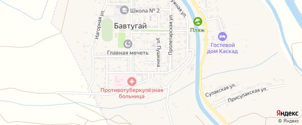 Базарная улица на карте поселка Бавтугая с номерами домов