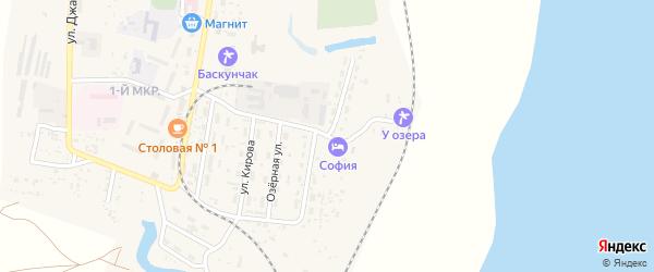 Улица 100-летие Солепромысла на карте поселка Нижнего Баскунчака Астраханской области с номерами домов