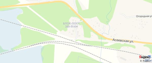 Казарма 389 км на карте Вычегодского поселка с номерами домов