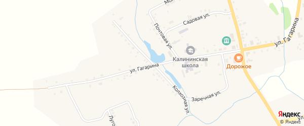Колхозная улица на карте села Калинино с номерами домов