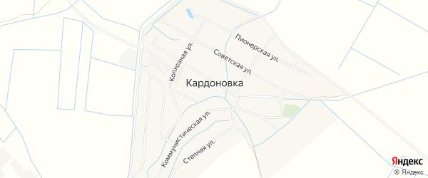 Карта села Кардоновки в Дагестане с улицами и номерами домов