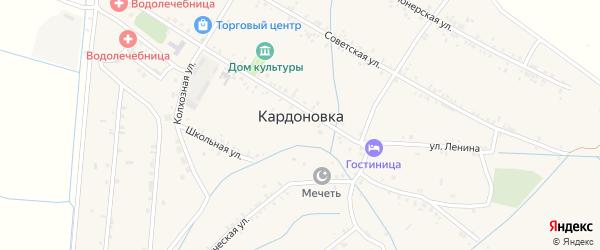Дубовая улица на карте села Кардоновки Дагестана с номерами домов
