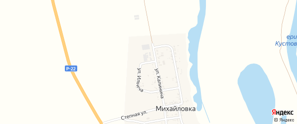 Улица Ильича на карте села Михайловки Астраханской области с номерами домов