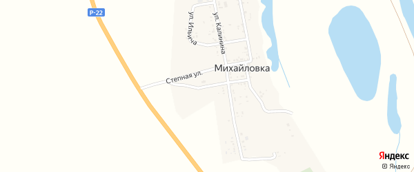 Улица О.Кошевого на карте села Михайловки Астраханской области с номерами домов