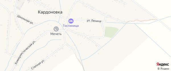 Виноградная улица на карте села Кардоновки Дагестана с номерами домов