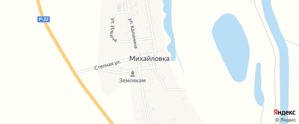 Улица Ферма N2 на карте села Михайловки Астраханской области с номерами домов