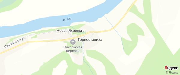 Карта деревни Горносталихи в Кировской области с улицами и номерами домов