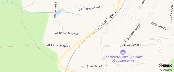 Улица Карла Маркса на карте поселка Киря с номерами домов