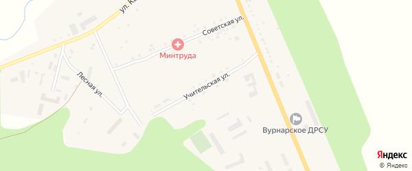 Учительская улица на карте села Калинино с номерами домов
