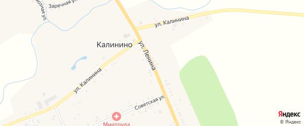 Улица Ленина на карте села Калинино с номерами домов