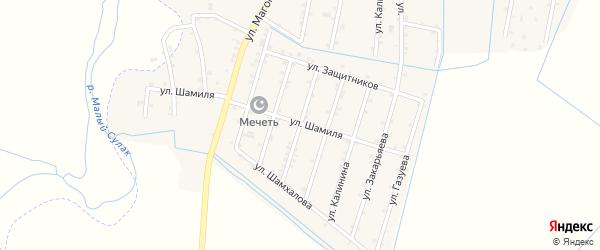 Улица Нажмудина на карте села Чонтаула с номерами домов