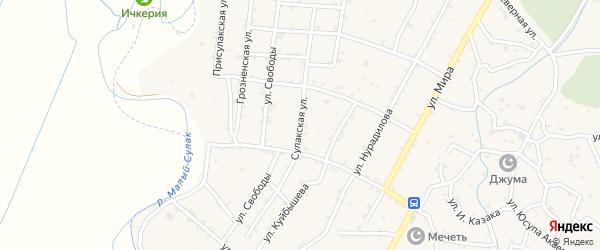 Сулакская улица на карте села Чонтаула с номерами домов