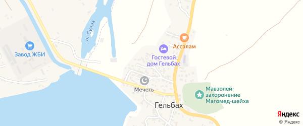Улица Буйнакского на карте села Гельбаха с номерами домов