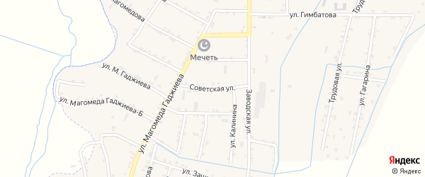 Советская улица на карте села Чонтаула с номерами домов