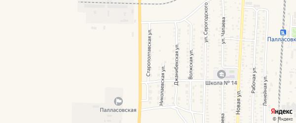 Старополтавская улица на карте Палласовки с номерами домов