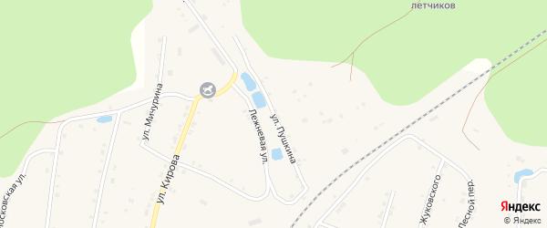Улица Пушкина на карте поселка Киря с номерами домов