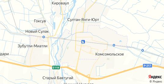 Карта Кизилюрта с улицами и домами подробная. Показать со спутника номера домов онлайн