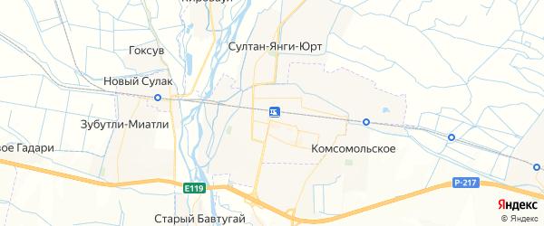 Карта Кизилюрта с районами, улицами и номерами домов