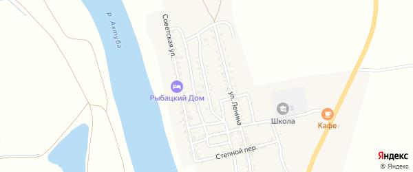 Комсомольская улица на карте села Михайловки Астраханской области с номерами домов