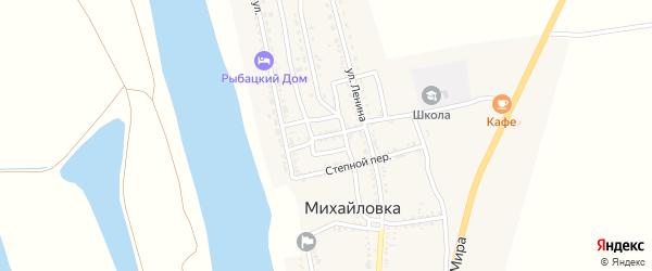 Овощной переулок на карте села Михайловки Астраханской области с номерами домов
