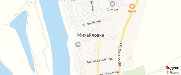 Проспект Мира на карте села Михайловки Астраханской области с номерами домов