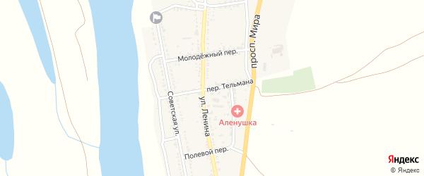 Переулок Тельмана на карте села Михайловки Астраханской области с номерами домов
