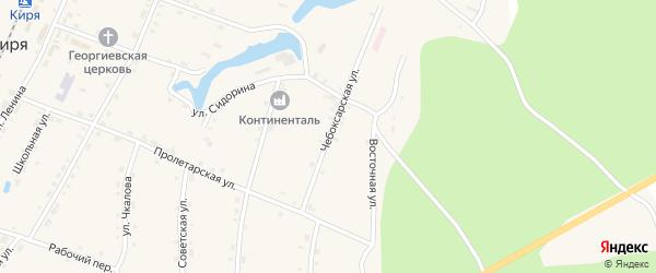 Чебоксарская улица на карте поселка Киря с номерами домов