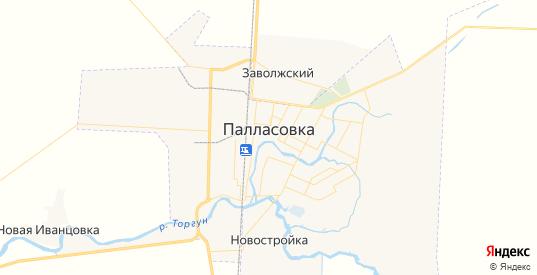 Карта Палласовки с улицами и домами подробная. Показать со спутника номера домов онлайн