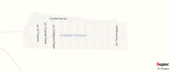 Улица Абубакарова на карте села Гельбаха с номерами домов