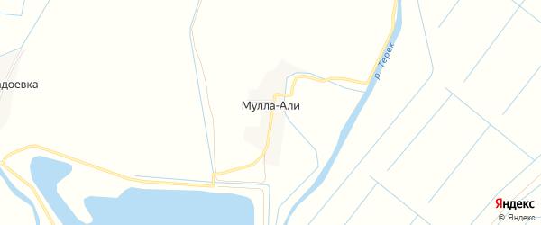 Карта села Муллы-Али в Дагестане с улицами и номерами домов