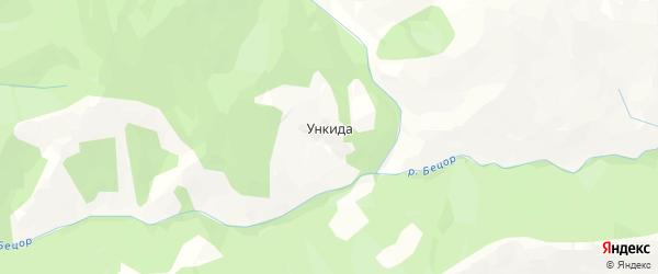Карта хутора Ункиды в Дагестане с улицами и номерами домов