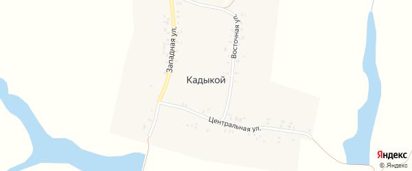 Западная улица на карте деревни Кадыкоя с номерами домов