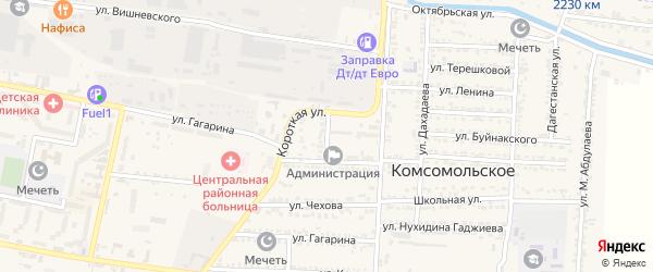 Улица Мира на карте Комсомольского села Дагестана с номерами домов