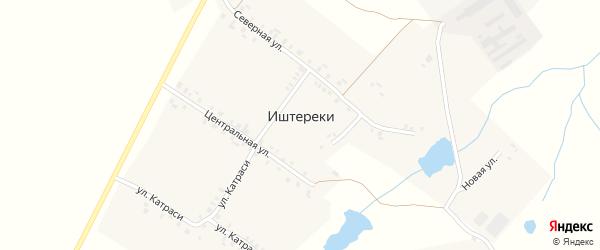 Центральная улица на карте деревни Иштереки с номерами домов