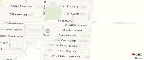 Улица Шейха Муртазали на карте Комсомольского села с номерами домов