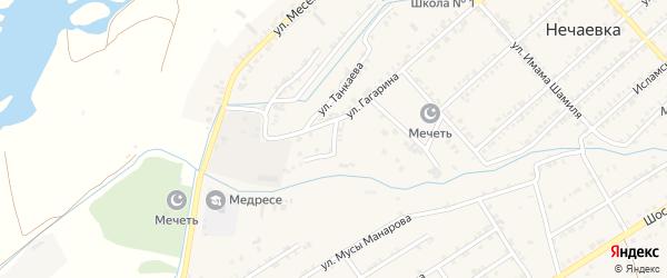 Тепличная улица на карте села Нечаевки Дагестана с номерами домов