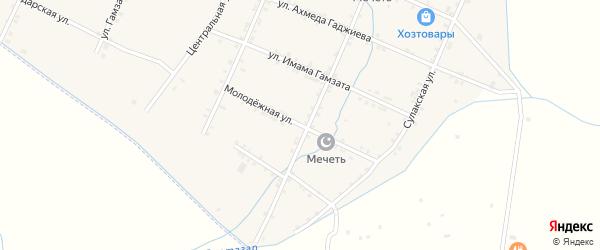 Молодежная улица на карте села Акнады с номерами домов