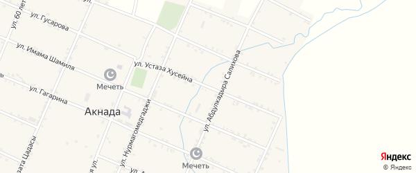 Улица Хусейна Апанди на карте села Акнады с номерами домов