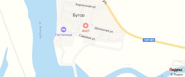 Садовая улица на карте поселка Бугра Астраханской области с номерами домов