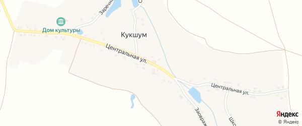 Центральная улица на карте села Кукшума с номерами домов