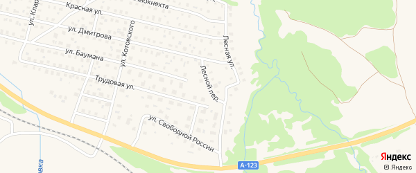 Лесной переулок на карте Вычегодского поселка с номерами домов